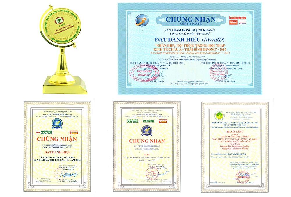 Những giải thưởng mà Hồng Mạch Khang được vinh danh